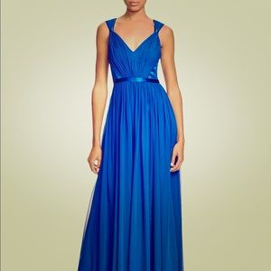 Vera Wang Blue Floor Length Dress